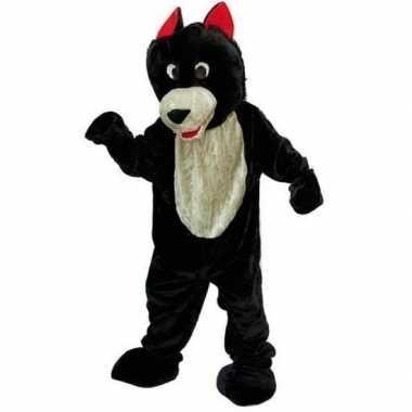 Wolf verkleedkleding van pluche