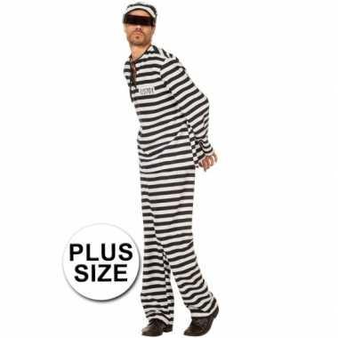 Xl inbreker verkleedkleding zwart/wit voor heren
