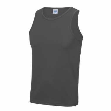 Yoga verkleedkleding grijze heren sport top