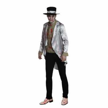 Zombie bruidegom verkleedkleding voor heren