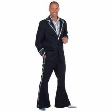 Zwart bling bling verkleedkleding heren