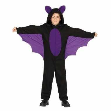 Zwart met paars vleermuis verkleedkleding voor jongens