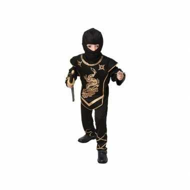 Zwart ninja verkleedverkleedkleding