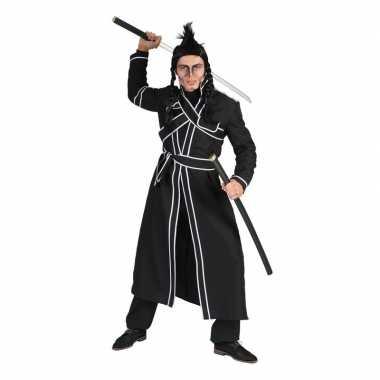 Zwart samoerai verkleed verkleedkleding voor heren