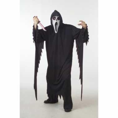 Zwart scream verkleed verkleedkleding/gewaad voor volwassenen
