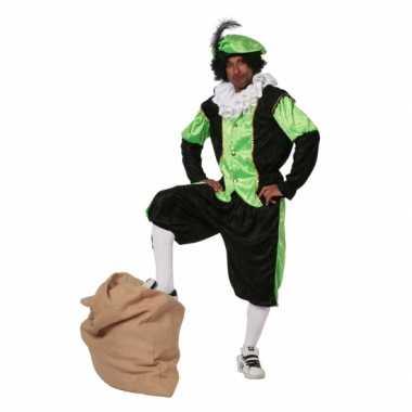 Zwarte piet verkleedkleding groen grote maat