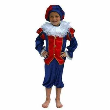 Zwarte piet verkleedkleding kind rood/blauw