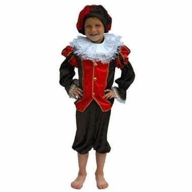 Zwarte piet verkleedkleding kind rood/zwart