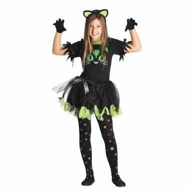 Zwarte poes/kat verkleedkleding voor meisjes