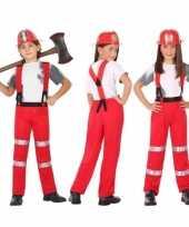 Brandweer pak verkleed verkleedkleding voor jongens en meisjes