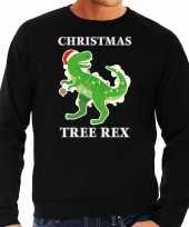 Christmas tree rex kerstsweater verkleedkleding zwart voor heren