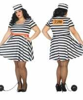 Grote maten gevangene boef bonnie verkleed verkleedkleding voor dames