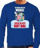 Kut kerstbal sweater kerst verkleedkleding ik vroeg om een mobiel krijg ik deze kut bal blauw voor heren