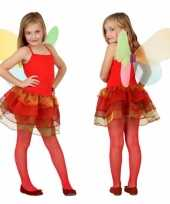 Meisjes vlinder verkleedkleding rood