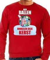 Rinkelende kerstbal sweater kerst verkleedkleding mijn ballen rinkelen deze kerst rood voor heren