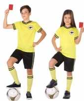 Voetbal scheidsrechter verkleed verkleedkleding voor kinderen